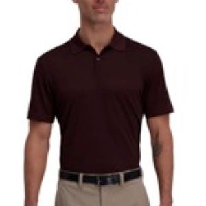 HAGGAR Red Cool 18 Pro Block Textured Polo/M